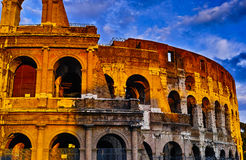 Sunset of Rome Colosseum Royalty Free Stock Photography