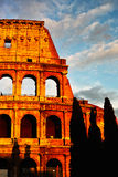 Sunset of Rome Colosseum Stock Photos
