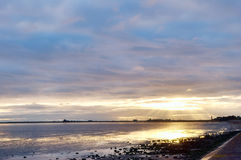 Sunset at Roosebeck, Morecambe Bay. Royalty Free Stock Photography