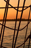 Sunset Rope Royalty Free Stock Images