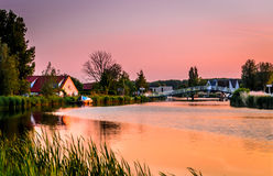 Sunset on the Rotte Stock Images