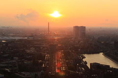 Sunset in Rotterdam Stock Photo