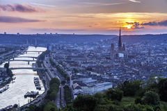 Sunset in Rouen Royalty Free Stock Photo