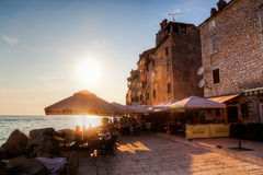 Sunset in Rovinj, Croatia Stock Image