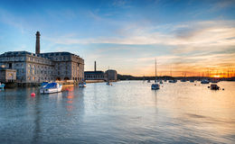 Sunset at the Royal William Yard in Plymouth Stock Images