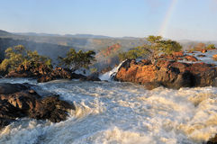 Sunset at the Ruacana waterfall, Namibia Stock Image
