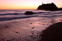Sunset at Ruby Beach Royalty Free Stock Images