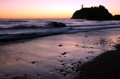Sunset at Ruby Beach, Washington. Sunset at Pacific Ocean coast, Ruby Beach, Olympic National Park, Washington Stock Photos