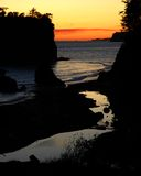 Sunset at Ruby Beach, Washington. Sunset at Pacific Ocean coast, Ruby Beach, Olympic National Park, Washington Royalty Free Stock Photo