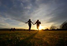 Sunset run Royalty Free Stock Image