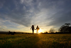 Sunset run Stock Photography