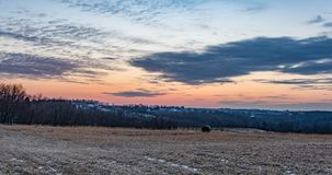 Sunset in rural Appalachia - country background royalty free stock images