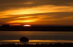 Sunset Rural Saskatchewan Royalty Free Stock Photography