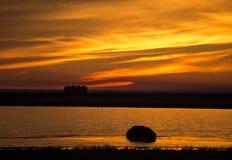 Sunset Rural Saskatchewan Royalty Free Stock Photo