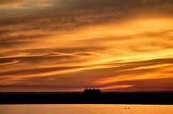 Sunset Rural Saskatchewan Royalty Free Stock Photos