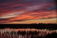 Sunset Rural Saskatchewan Stock Image