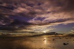 Sunset on Rurutu - French Polynesia Royalty Free Stock Images