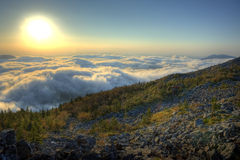 Sunset of the Russian Primorye mountains l Royalty Free Stock Photos