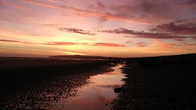 Sunset at Rye Harbour Nature Reserve Stock Photos