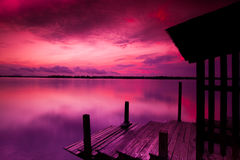 Sunset in Sabah Royalty Free Stock Photography