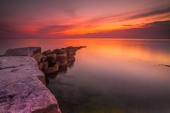 Sunset in Sabah Stock Photo