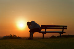 Sunset Sadness Stock Photography