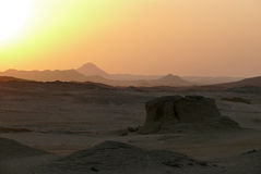 Sunset in the Sahara Desert. Stock Images
