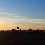 Sunset in Sahara Desert, Morocco Royalty Free Stock Photography