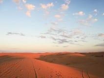 Sunset Sahara desert stock image