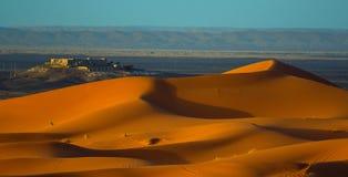 Sunset in Sahara Desert Stock Photo
