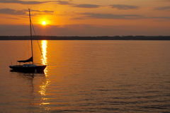 Sunset Sail Stock Images