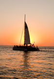 Sunset Sail Royalty Free Stock Photography