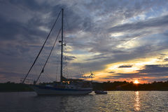 Sunset Sail Royalty Free Stock Photos