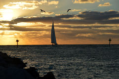 A sunset sail Royalty Free Stock Photo
