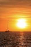 Sunset sail Stock Image