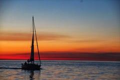 Sunset sailboat stock photos