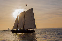 Sunset Sailboat Royalty Free Stock Images
