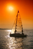Sunset sailing Royalty Free Stock Photography