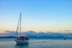 Sunset Sailing Royalty Free Stock Photos