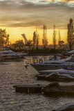 Sunset on the Saint Lawrence Seaway Royalty Free Stock Images