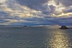 Sunset in Saint-Malo. Royalty Free Stock Photo