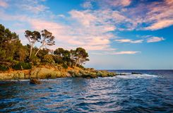 Sunset in Saint Raphael. France Stock Image