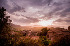 Sunset in Spoleto, Italy Stock Images