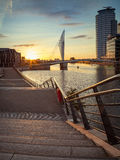 Sunset at Salford Quays royalty free stock photo
