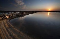 Sunset on the salt Bacuta Royalty Free Stock Photo