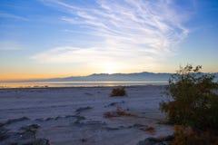 Sunset at the Salton Sea stock image