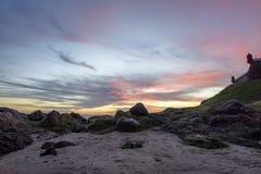 Sunset in Salvador. Sunset near the Farol da Barra in Salvador city, Bahia Royalty Free Stock Photos