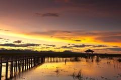 Sunset at Sam roi Yod national park Thailand Stock Photography