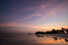 Sunset at Sampraya beach in Samroiyod nation park, Pranburi,Thailand Stock Photo