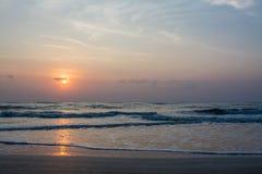 Sunset at Sampraya beach in Samroiyod nation park, Pranburi,Thailand Royalty Free Stock Image